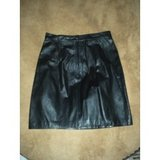Black Leather Skirt Size 8 in Chicago, Illinois
