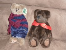 "Two 10"" Boyds bears in Fort Bragg, North Carolina"