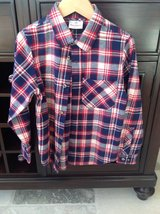 Boys Hanna Andersson Flannel Button Down Shirt Size 6-7 in Plainfield, Illinois