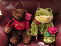 Large Valentine Plush Bear - NWT (Frog Is Sold) in Kingwood, Texas