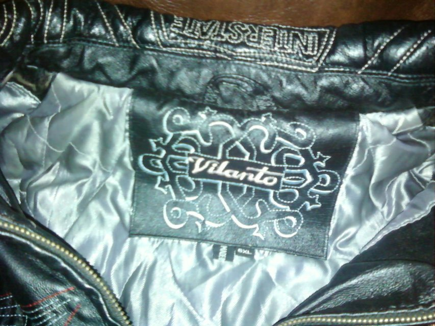 Vilanto leather jacket black w/RT 78 theme | Clothing & Accessories for sale on Lejeune bookoo!